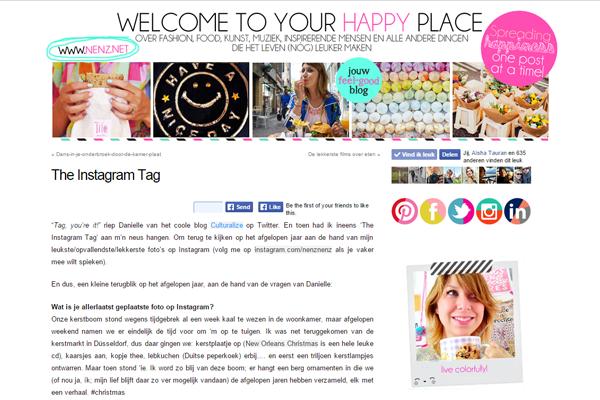 Overzicht van bloggers die The Instagram Tag invulden